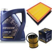 Inspektionspaket Filter Set MANNOL 10W40 Motoröl+ Opel Zafira A 10135864