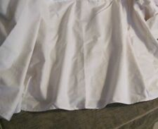 "NEW 18"" Calvin Klein PALE PINK/BLUSH/Peony King TAILORED LINED Cotton Bed Skirt"