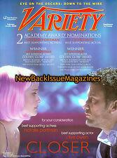 Daily Variety Supplement 2/05,Natalie Portman,February 2005,NEW