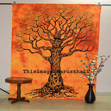 Indian Tree Of Life Tapestry Tie dye Gypsy Wall Hanging Mandala Bedspread Throw