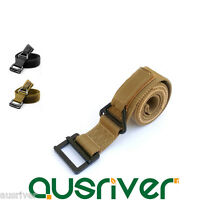 Outdoor Survival Tactical Buckle Belt Waist Strap Military Hunting Rigger Rescue