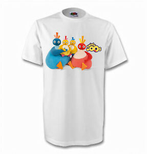 Twirlywoos Childrens T-Shirts - 2 Designs - 7 Colours - Sizes 1-15 Yrs