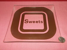 Vintage SQUARE Clear and Brown GLASS COIN CANDY TRINKET DISH Howard Johnson