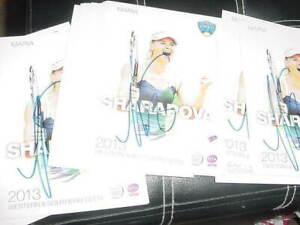 lot of (23) MARIA SHARAPOVA signed auto tennis 2013 w&s open cards nm/mt