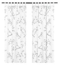 "New IKEA NANFRID Curtains, 1 pair (2 Panels), white/black 57 x 98 """