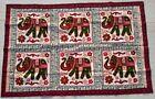 "53"" x 35"" New Rabari Elephant Embroidery Ethnic Tapestry Tribal Wall Hanging"