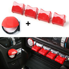 5p Red Dashboard Engine Start/Stop Button Switch Cover Trim For Ford Mustang 15+