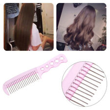 Anti-Static Steel Teeth Plastic Wig Comb Brushes Hairpiece Care Hair Brush