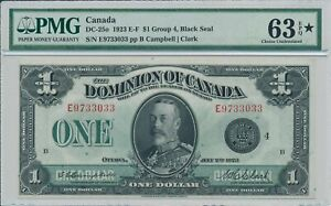 Dominion of Canada  Canada  $1 1923 S/No xx33033 PMG  63EPQ*