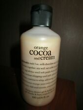 NEW PHILOSOPHY 6 oz bottle ORANGE COCOA & CREAM shampoo shower gel bubble bath