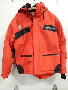 Ponant Polar Expedition Hooded Jacket Coat Red Size Large / Xtra Large EUC