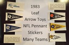 1983 LEAF / Arrow Toys NFL TEAM Pennant stickers - YOU PICK!!  Many Teams