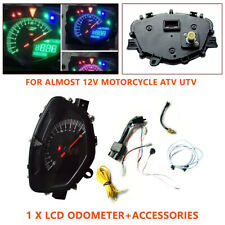 DC 12V Motorcycle Modified Meter Odometer Tachometer Dual-process LCD Instrument