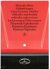 MERCEDES-BENZ G nei colori e finiture 1985-87 UK Mercato Opuscolo multilingue