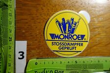 Alter Aufkleber Rad Reifen Stoßdämpfer MONROE (A)