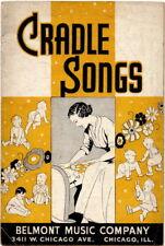 Cradle Songs, Belmont 1937, Nursery Songs 24 pages 48 songs