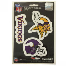 Team ProMark NFL Minnesota Vikings Die-Cut Decal Sticker 3-Pack Made in U.S.A