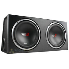 "12"" Dual Loaded Subwoofer Enclosure With Subs 1600W Max 2 Ohm Cerwin Vega XE12DV"