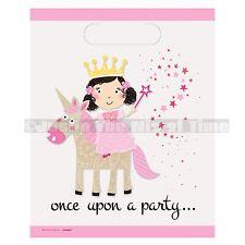 Magical Unicorn & Princess Birthday Girls  Party Loot Bags x 8