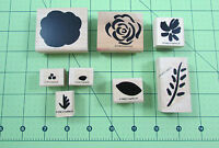 Stampin Up Two Step Stampin Flashy Florals Stamp Set of 8 Flowers Leaves Petals