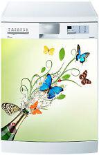 Adhesivo lavavajillas decoración cocina electrodomésticos Mariposa de colores