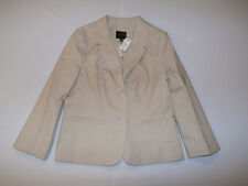 The Limited Topstitched 2-Button Jacket Blazer W/ Sateen Pencil Pants Suit Tan