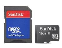 SanDisk 16GB 16G Micro SD Micro SDHC TF Class 4 Flash Memory Card + Adapter