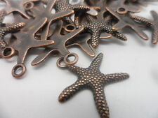 50 Starfish Red Copper charm,bead~scrapbooking,card & jewellery making Bulk Buy