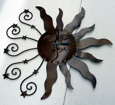"ORNATE 23"" SUN CLOCK WITH TWO SETS OF RAYS"