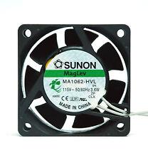 50pc SUNON AC Fan MagLev MA1062-HVL GN AC115V 50/60Hz 3.6W 60x60x25mm UL 6x6cm