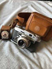 Vintage Graflex Graphic 35 Film Camera 50mm Lens Micro Meter With Leather Case