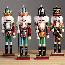 4 x Soldato Schiaccianoci di Natale in Legno 30 cm Decorazioni Natalizie 4 Pezzi