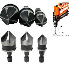 3x Quick Change Drill Bit Tools Hex Countersink Bore Boring Set for Wood Metal