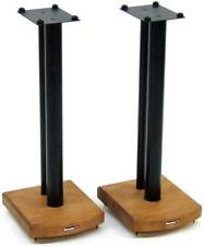 ATACAMA moseco 6 Speaker Stand 600mm Media Bamboo Gloss Black Rod (Coppia)