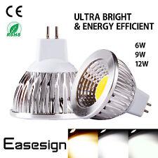 LED Ultra Bright MR16 GU10 E27 E14 Dimmable CREE COB Spot Light Bulb 6W 9W 12W