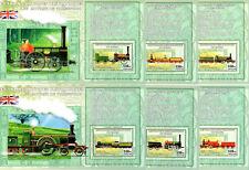 Kongo britische Dampflokomotiven kplt. Satz Blöcke **/MNH