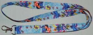"Lilo & Stitch 18"" Lanyard Keychain Disney Light Blue"