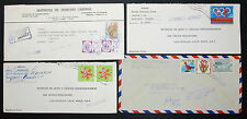L' équateur AIRMAIL set of 4 ADV Covers Letters stamp Olympia Lupo r-lettres (h-8595+