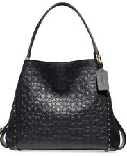 COACH Edie 31 Black Signature 31866 Shoulder Bag
