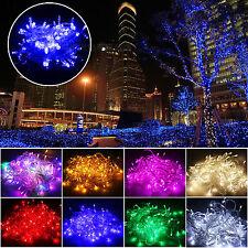 10m 100led árbol de Navidad Fiesta Jardín Luces De Cuerda Decoración Bombilla