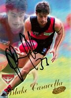 ✺Signed✺ 2000 ESSENDON BOMBERS AFL Premiers Card BLAKE CARACELLA