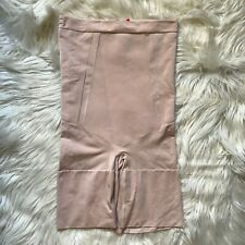 Spanx OnCore High-Waisted Mid-Thigh Shorts in Soft Nude SS1915 Size Medium