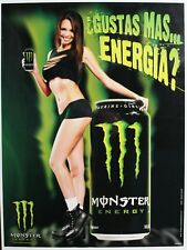 MONSTER ENERGY DRINK POSTER -- BIG CAN -- SEXY GIRL DORM POSTER