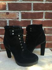 ROSEGOLD ShopBop Black Suede Ankle Boots Booties 40 9 * CLASSIC!