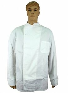 German Navy Chef Shirt XL - Double Breasted White with White Stud Buttons NEW!!