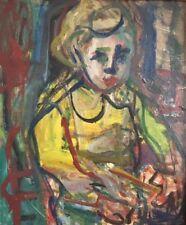 """André BLONDEL (1909-1949)."""" Portrait d'enfant """" Huile sur toile.v323"""