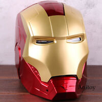 Marvel Avengers Iron Man Helmet Mask Motorcycle Iron Man Cosplay Helmet 1:1
