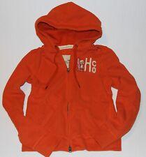 NWT HOLLISTER by Abercrombie Womens Vintage Classic Hoodie Sweatshirt Orange L