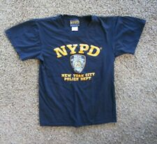 NYPD Officially Licensed Graphic 100% Cotton Short Sleeve Navy T-Shirt Men's S