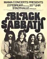 Vintage Concert  POSTER  Rare  BLACK SABBATH  Ozzy Osbourne  1973  16x20 GERMANY